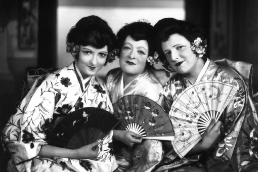 1924: Opera singers (from left) Aileen Davis as Peep-Bo, Winnifred Lawson as Yum Yum and Eileen Sharp as Pitti-Sing in a production of Gilbert and Sullivan's 'The Mikado'