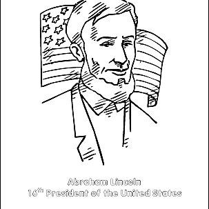 Abe lincoln coloring pages with facts | 303x303