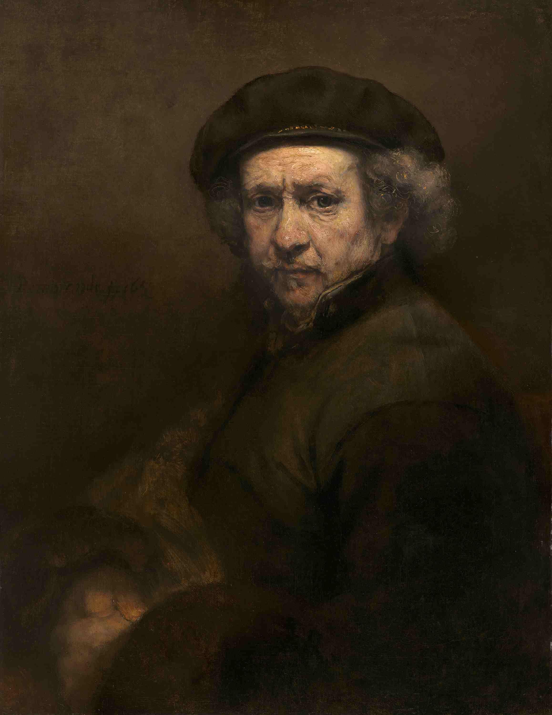 Self Portrait of Rembrandt as an older man.