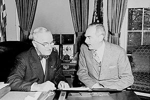 President Truman and Secretary of State Dean Acheson set the United States on a cold war course that began with the formulation of the Truman Doctrine in 1947 and didn't end until eight presidents later with the disintegration of the Soviet Union in 1991.