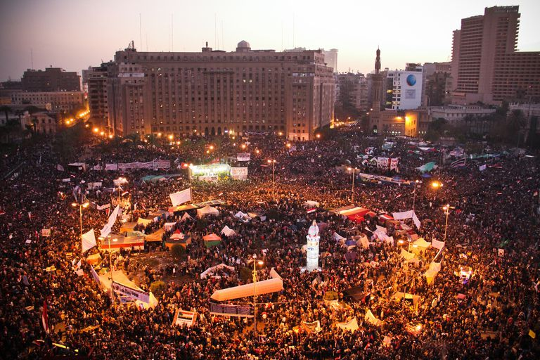 Tahrir Square during the 2011 Arab Spring