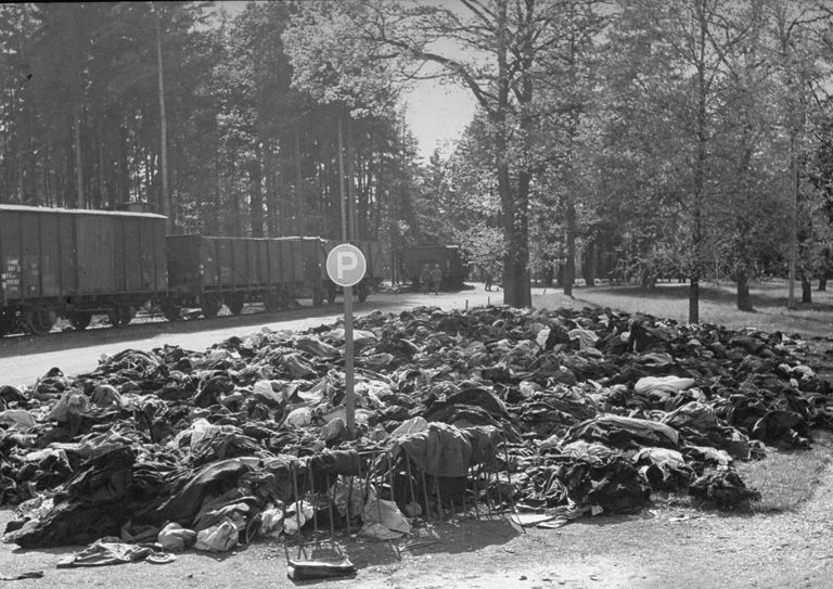 Discarded clothing of people taken by the Nazis