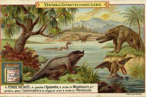 Illustration of Megalosaurus at waterside