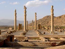 2,500 years old ruins of Persepolis in Iran