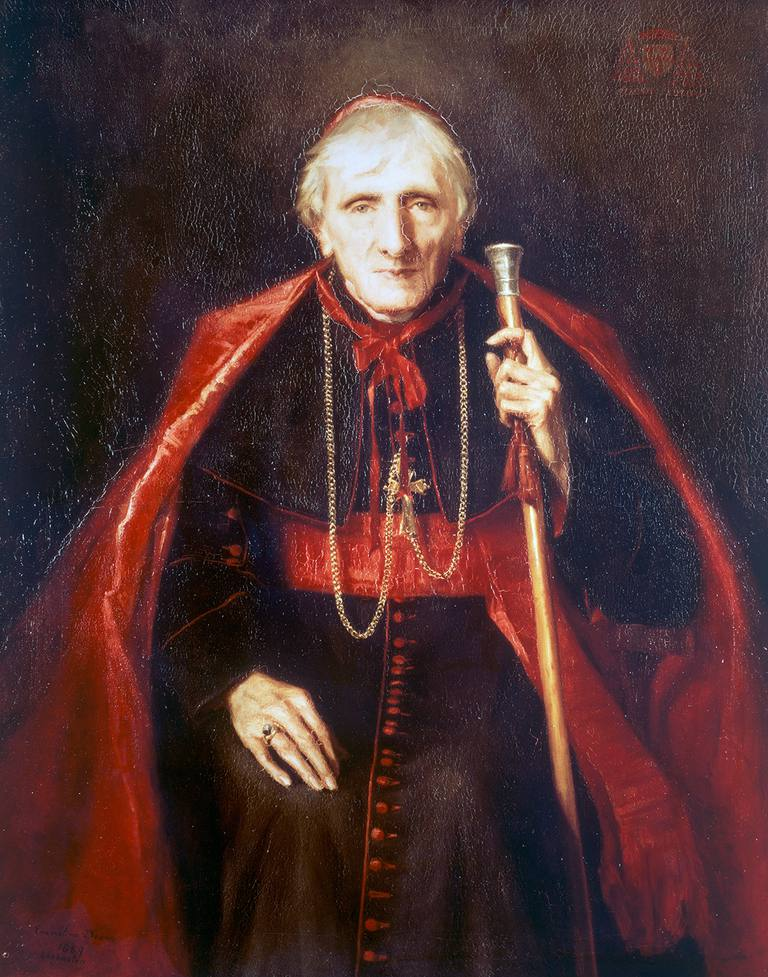 Portrait of John Henry Newman (1801-1890), 1889, English theologian and cardinal, painting by Emmeline Deane (1858-1944), oil on canvas. United Kingdom, 19th century.
