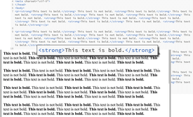 This text is bold in HTML