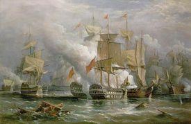 The Battle of Cape Saint Vincent, Richard Brydges Beechey, 1881