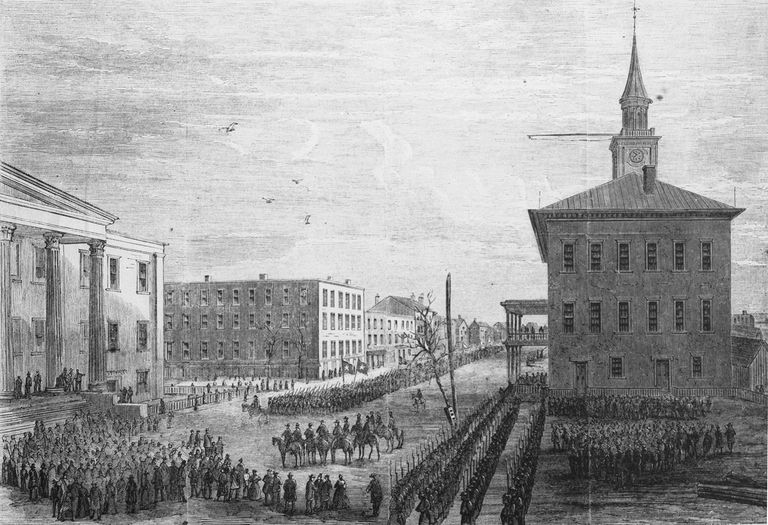 General Sherman's army entering Savannah, Georgia, on December 21, 1864