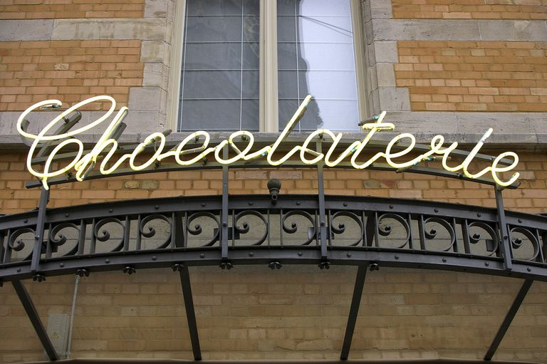 The Letters In This Sign Are Italics Its Customary To Italicize Foreign Words Such As French Word Chocolaterie When They Appear An English