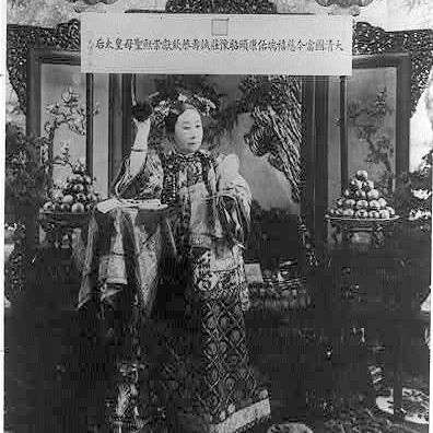 The Empress Dowager Cixi of China as photographed by an American artist