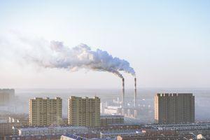 Smokestacks in Beijing, China