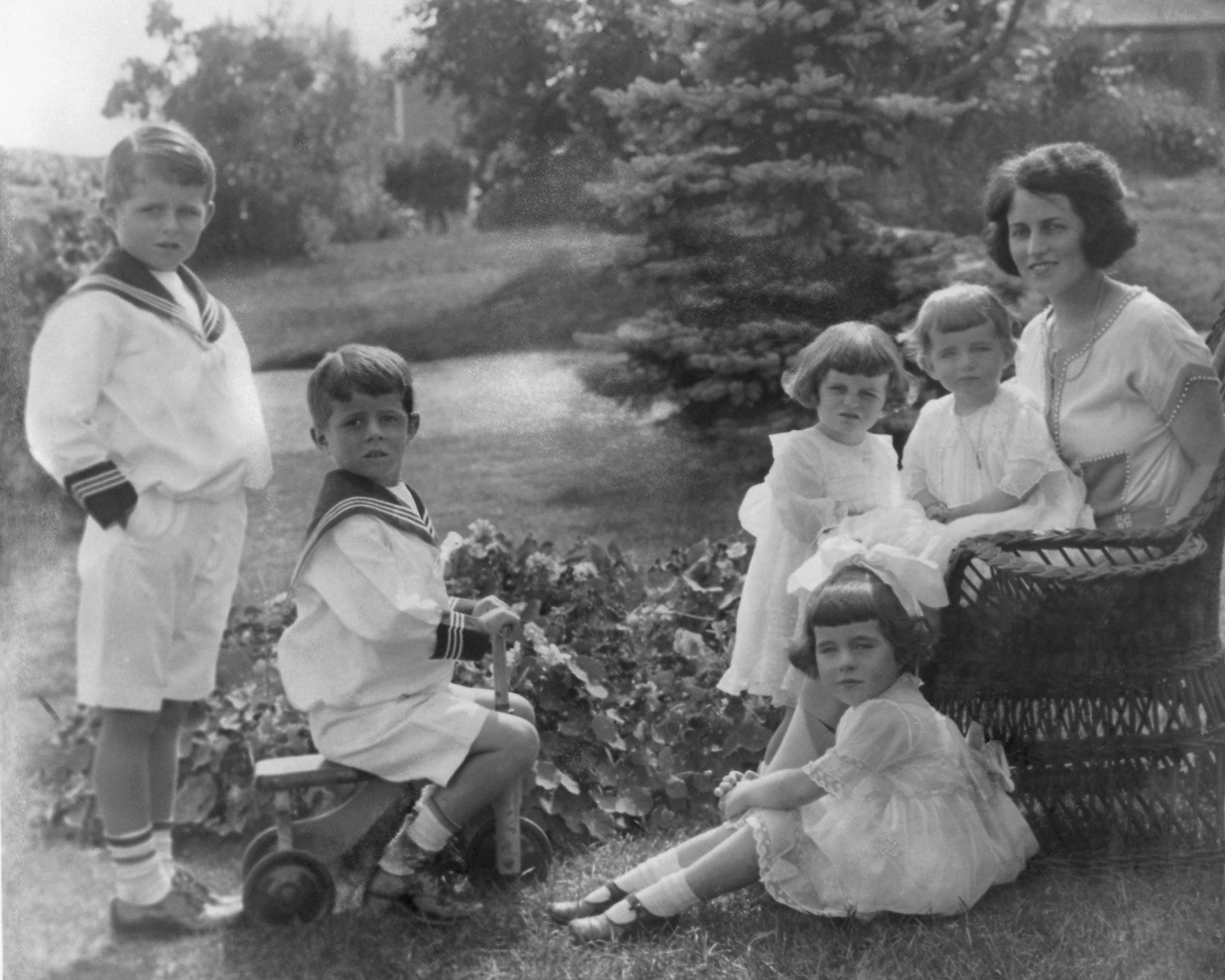 Rose Kennedy With Her Five Young Children