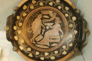 Large patera dish; terracotta; c. 340-32 B.C.; Artist: Patera Painter