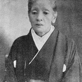 Photo of female warrior Yamakawa Futaba later in life.