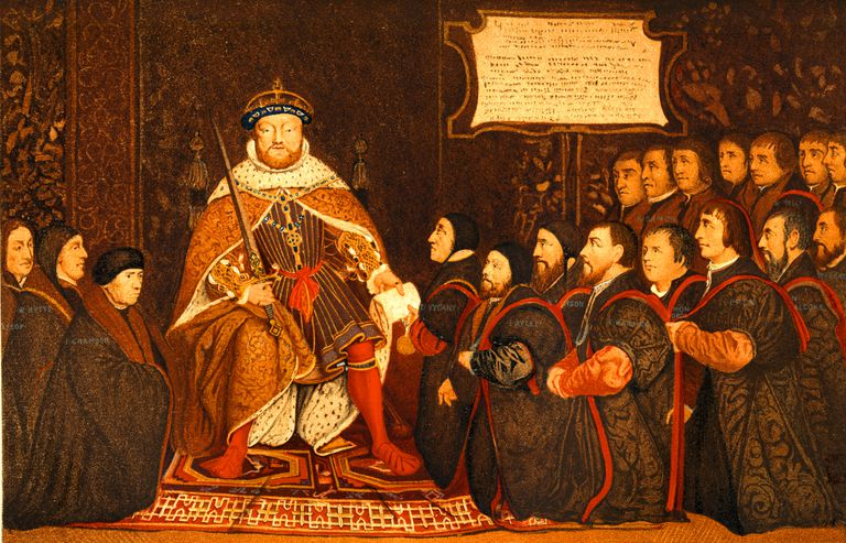 King Henry VIII Presents Charter to Barber-Surgeons