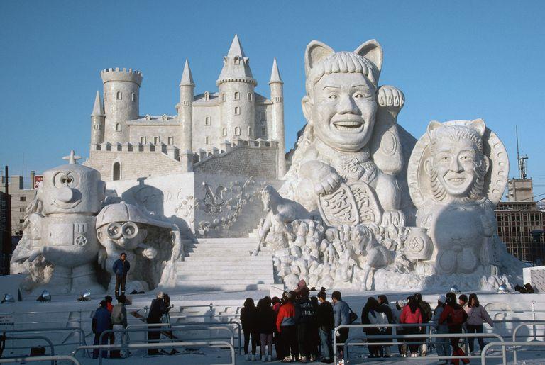 Snow sculptures at Sapporo Snow Festival