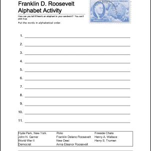 Franklin D. Roosevelt Alphabet Activity