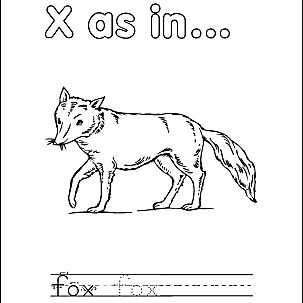Letter X Coloring Book Free Printable Pages