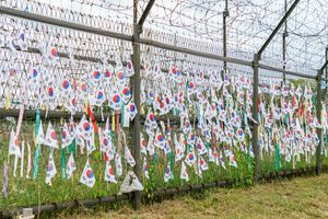 The decorated border with North and South Korea