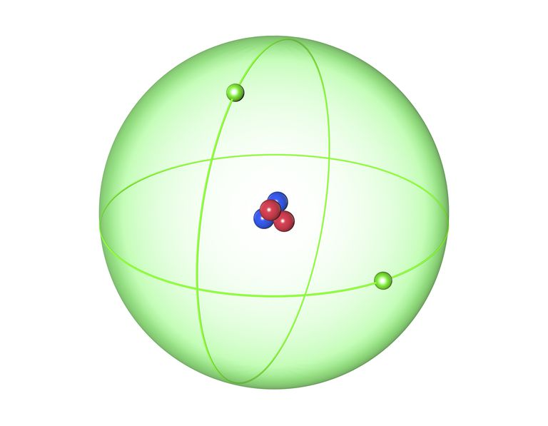 Helium element illustration