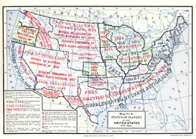 Map No 8, Status Of Enslavement In The United States, 1775 - 1865
