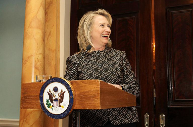 U.S. Secretary of State Hillary Clinton makes a few remarks at FORTUNE Most Powerful Women Dinner