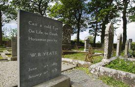 Epitaph on the tombstone of Irish poet William Butler Yeats (Drumcliffe, County Sligo):