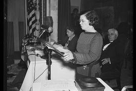 Rose Scheiderman of the WTUL, 1935
