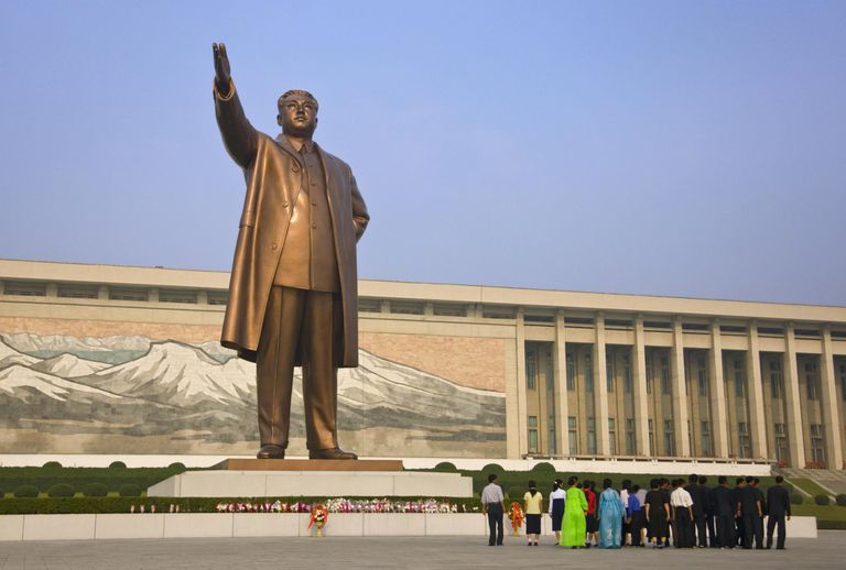 Statue of Kim Il-Sung, North Korea