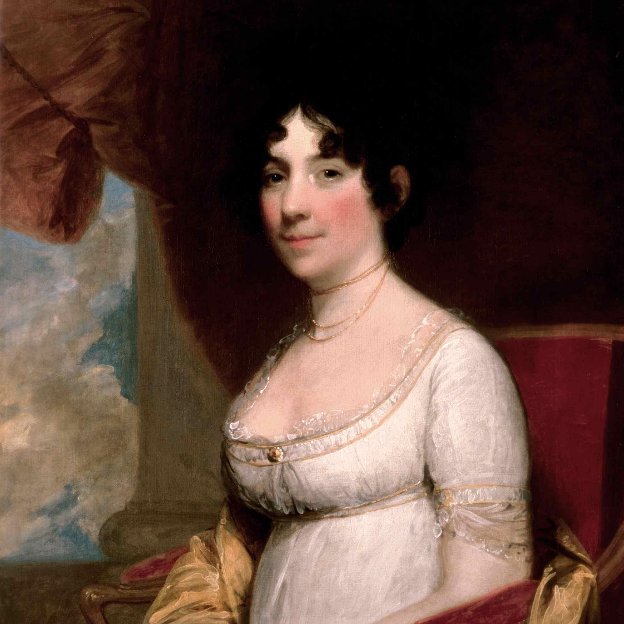 Dolley Madison, 1804, by Gilbert Stuart.