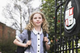Young student ready for school