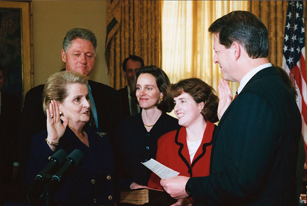 Swearing-in of Madeleine Albright