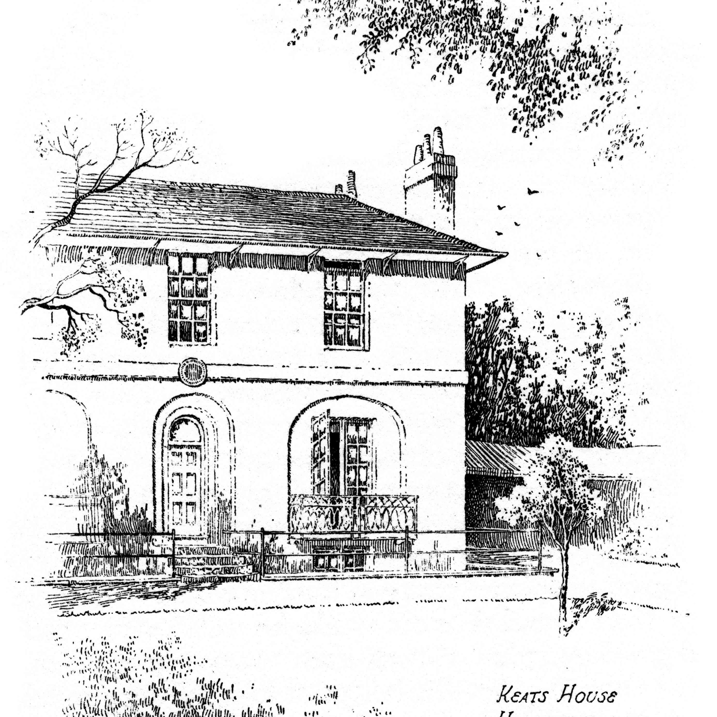 Keats House, Hampstead, London, 1912.Artist: Frederick Adcock