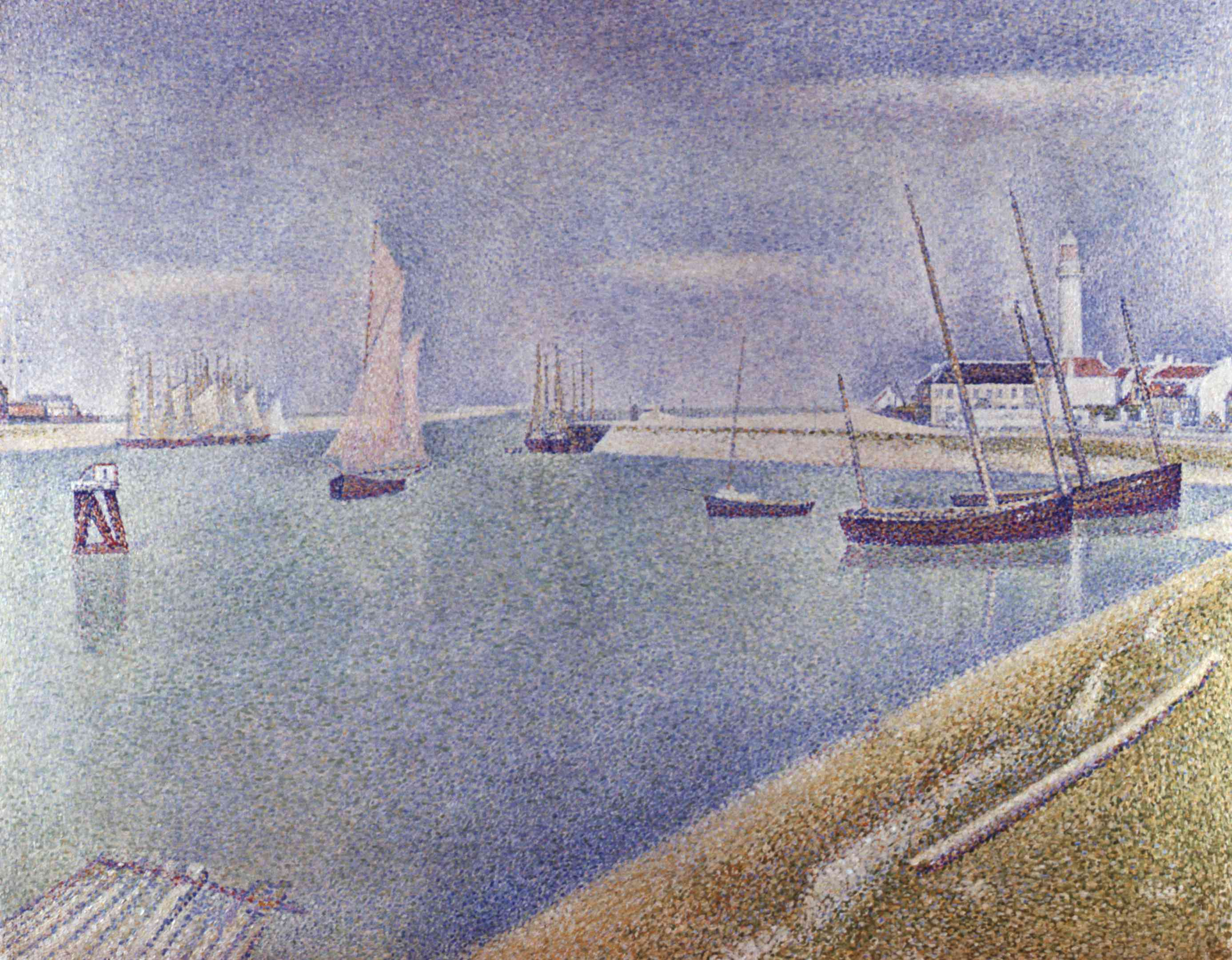 The Channel at Gravelines, in the Direction of the Sea by Georges Seurat