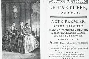 """A page from an early edition of """"Tartuffe"""""""