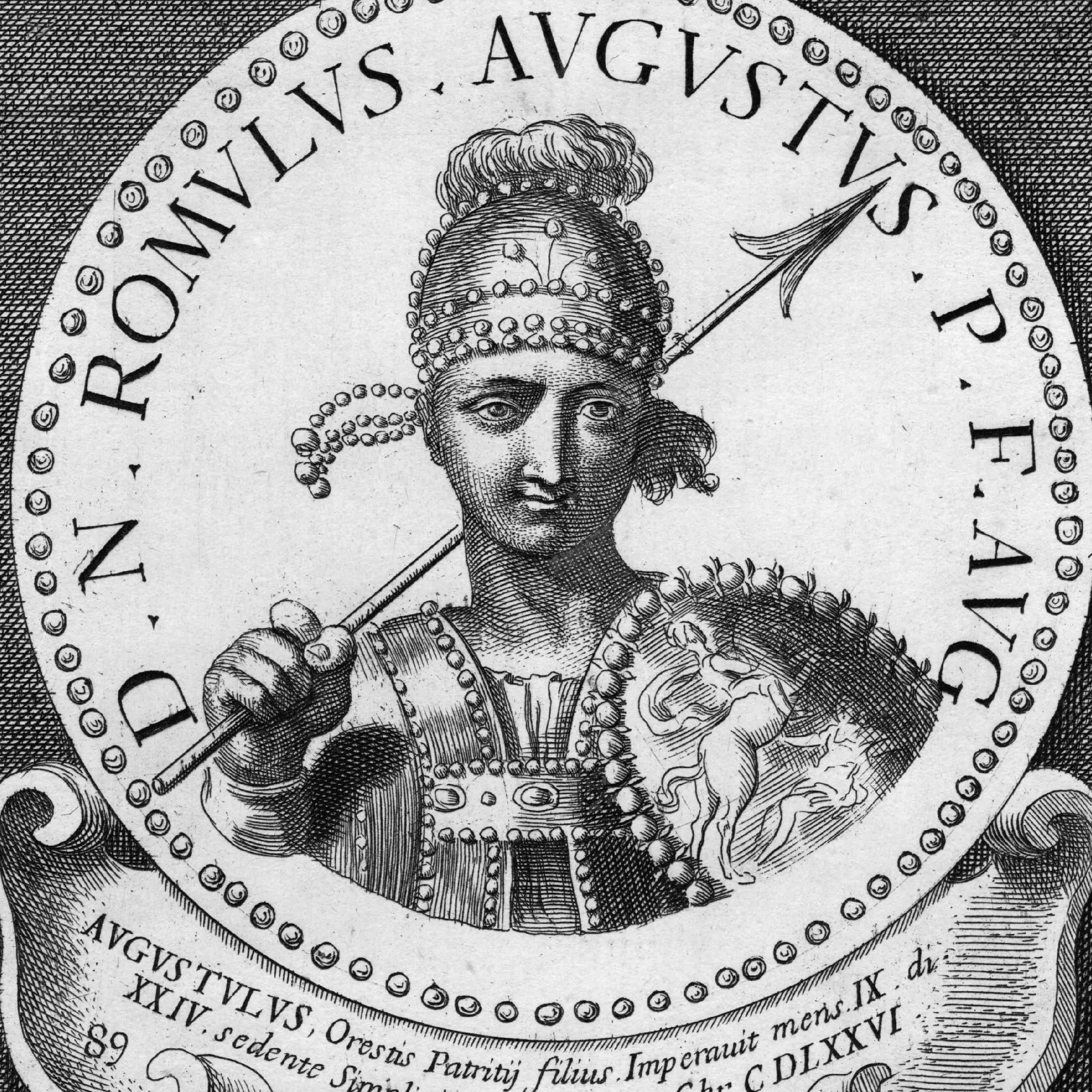 Romulus Augustus Engraving
