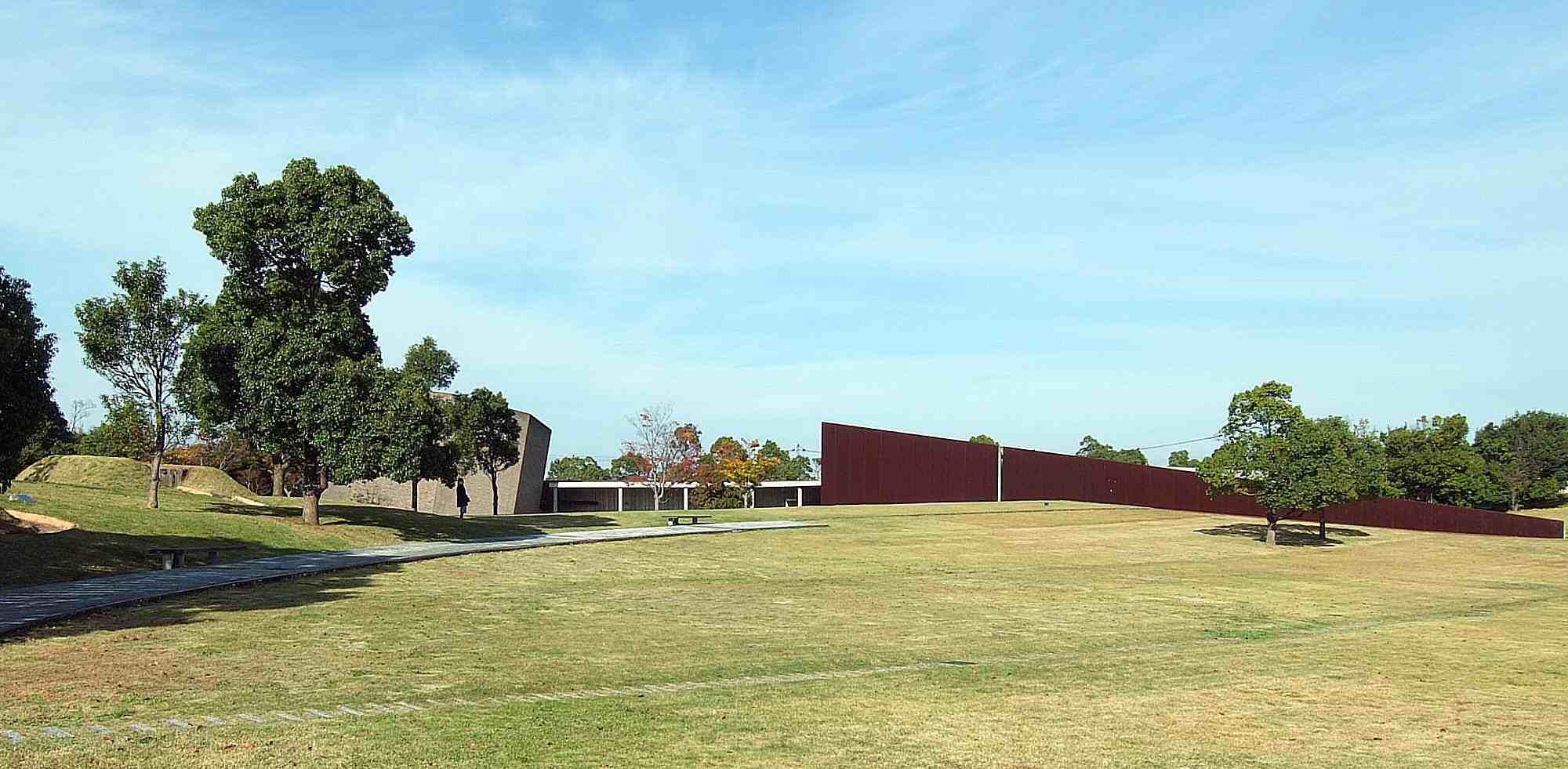 Kaze-no-Oka crematorio se integra en el paisaje