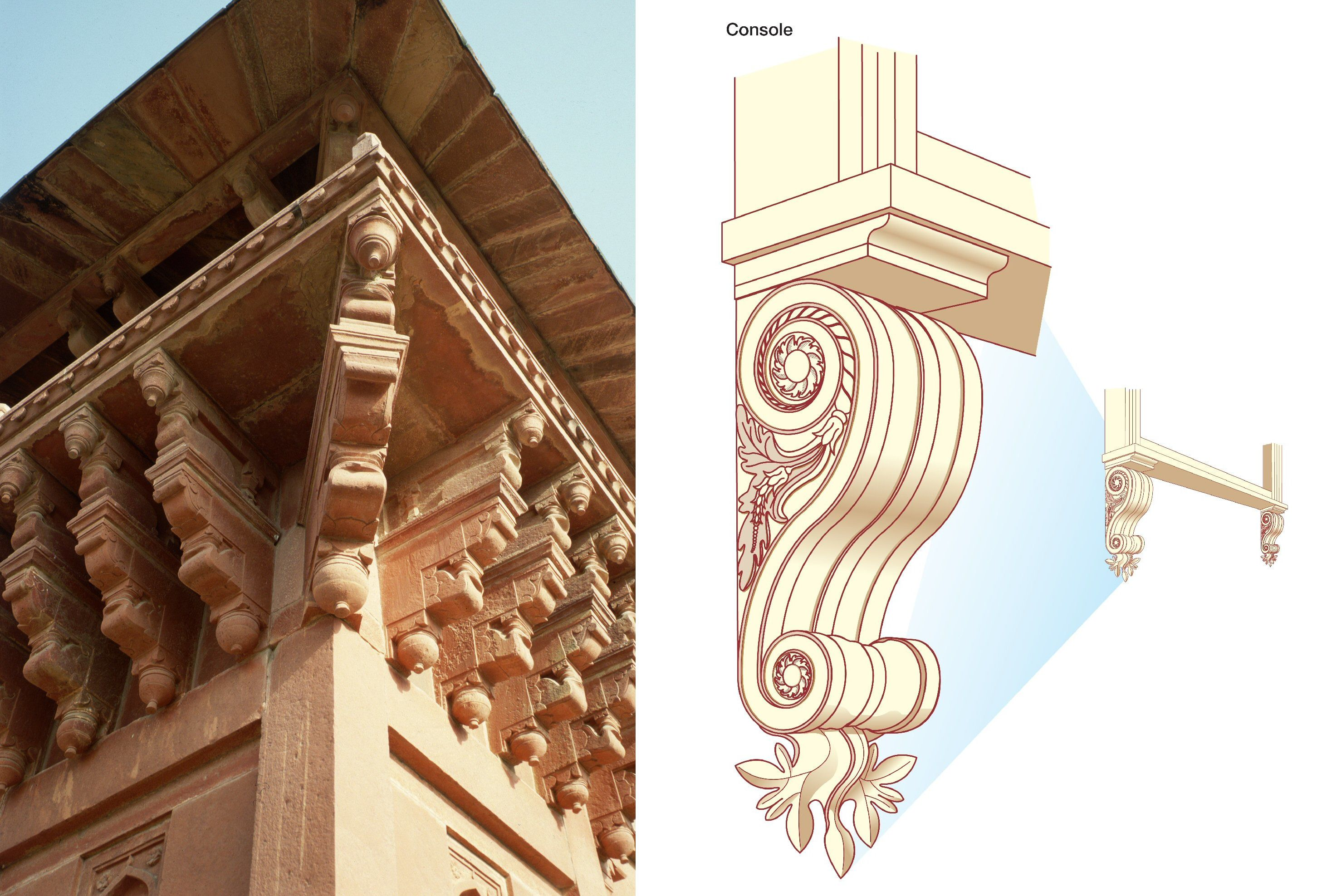 Joined Image Of Corbels On The Diwan I Khas At Fatehpur Sikri India