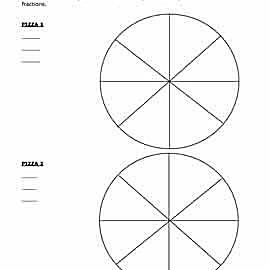 teach math with pizza fraction worksheets fraction pizza worksheets