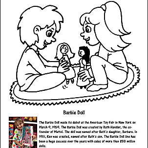 Barbie Doll Coloring Page