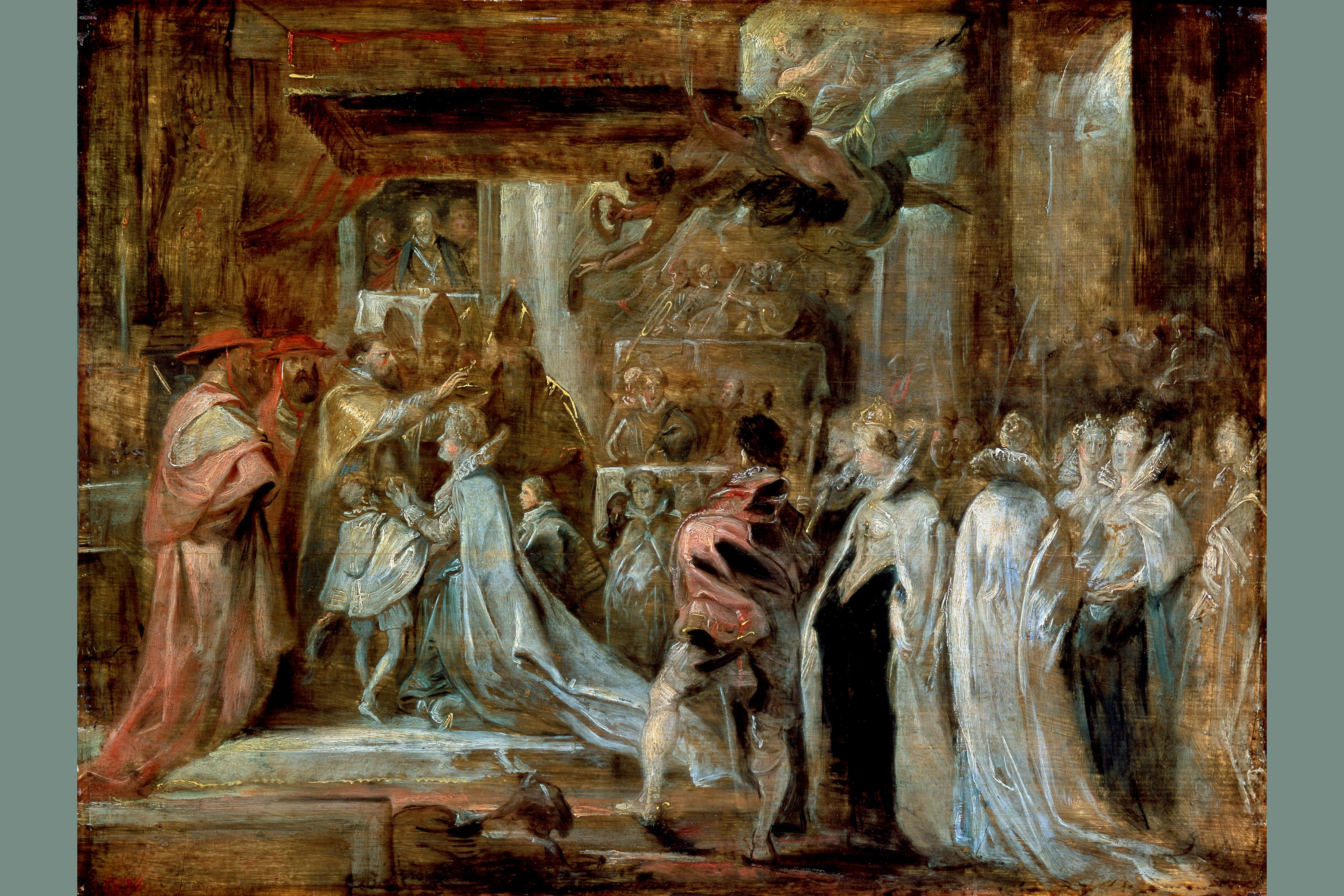 Painting depicting the Coronation of Marie de' Medici