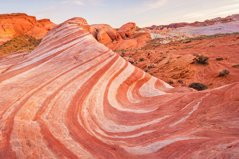Fire Wave in Valley of Fire State Park Nevada USA