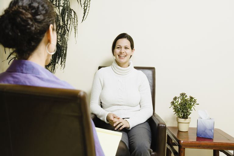 Woman at therapy session