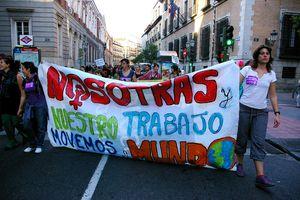 Women strike in Madrid