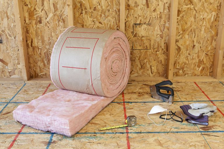 Fiberglass wall insulation and tools