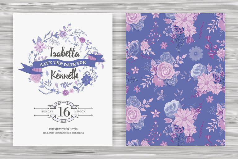 Floral Wedding Invitation Template
