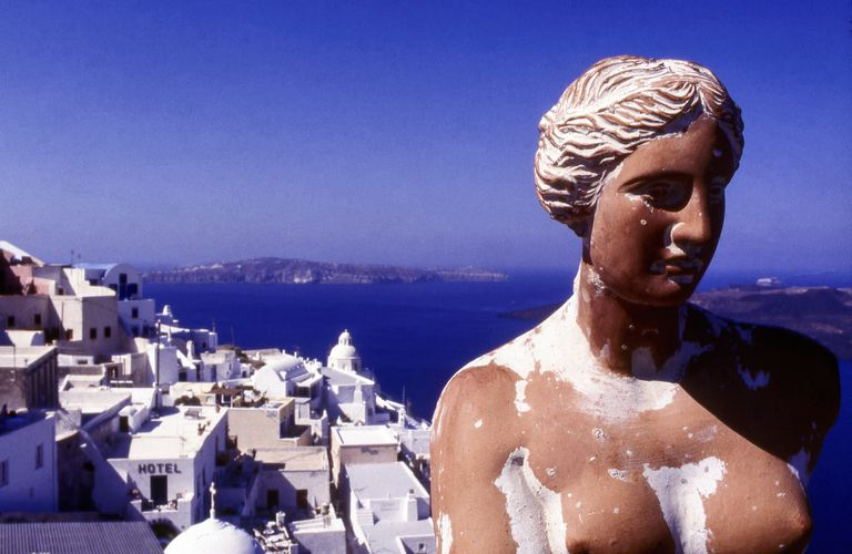 Staue of Aphrodite, Fira, Santorini, Greece