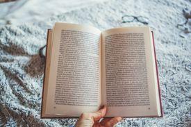 book being held open