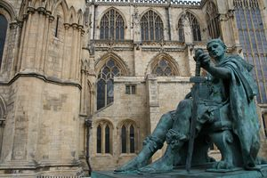 Statue of Roman Emperor Constantine the Great, York Minster