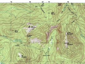 An example of a topographic map.